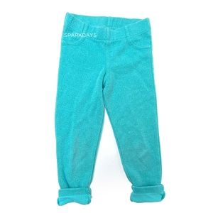 Carter's Mint Glitter Sparkly Stretchy Leggings 6